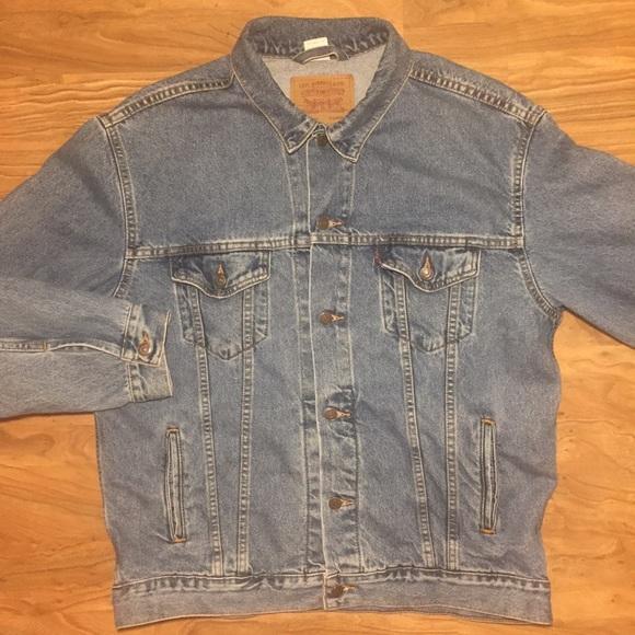 Levi S Jackets Coats Vtg Levis Xl Red Tag Jean Jacket Mens Denim